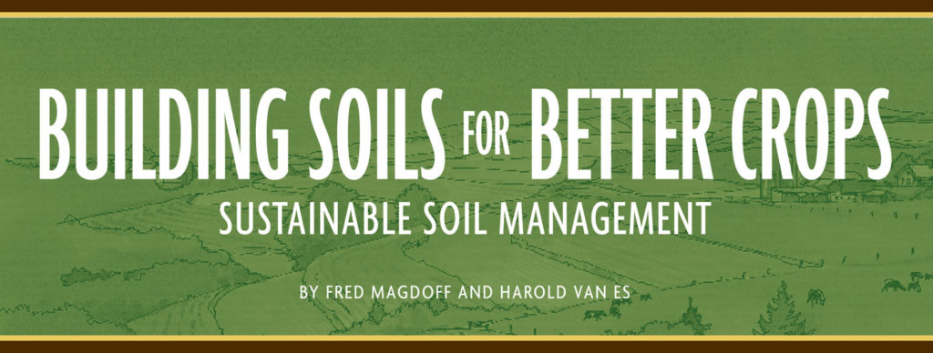 Building Soils for Better Crops- sustainable soil management guide cover.